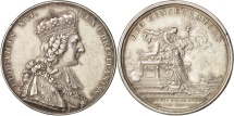 World Coins - France, Medal, Louis XVI, Coronation at Reims in 1775, AU(50-53), Silver