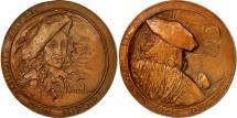 World Coins - France, Medal, Claire Lucidité D'un Miroir, 1968, Vermeer, MS(63), Cuivre