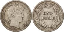 United States, Barber Dime, Dime, 1916, U.S. Mint, Philadelphia, EF(40-45)