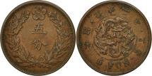 World Coins - Korea, Kuang Mu, 5 Fun, Year 2 (1898), AU(50-53), Copper, KM:1116