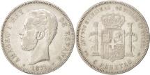Spain, Amadeao I, 5 Pesetas, 1871, Madrid, VF(30-35), Silver, KM:666