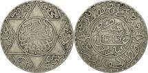 Morocco, Moulay al-Hasan I, 2-1/2 Dirhams, 1895, Paris, EF(40-45), Silver, KM:6
