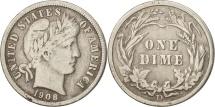 Us Coins - United States, Barber Dime, Dime, 1908, U.S. Mint, Denver, VF(20-25), Silver
