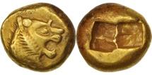 Ancient Coins - Lydia, Alyattes, 1/3 Stater, Sardes, AU(50-53), Electrum, SNG von Aulock:2868