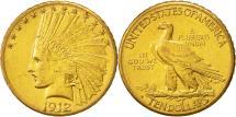 Us Coins - United States, Indian Head, $10, 1912, San Francisco, AU(55-58), Gold, KM:130
