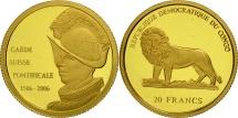 CONGO, DEMOCRATIC REPUBLIC, 20 Francs, 2006, MS(65-70), Gold