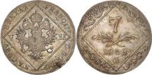 World Coins - Austria, Franz II (I), 7 Kreuzer, 1802, AU(55-58), Silver, KM:2129