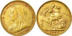 World Coins - Coin, Australia, Victoria, Sovereign, 1894, Melbourne, , Gold, KM:13