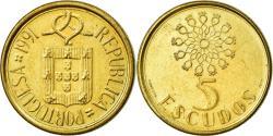 World Coins - Coin, Portugal, 5 Escudos, 1991, EF(40-45), Nickel-brass, KM:632
