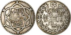 World Coins - Coin, Morocco, Yusuf, Rial, 10 Dirhams, 1917, bi-Bariz, Paris,