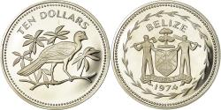 World Coins - Coin, Belize, 10 Dollars, 1974, Franklin Mint, Proof, , Silver, KM:45a
