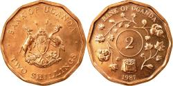 World Coins - Coin, Uganda, 2 Shillings, 1987, , Copper Plated Steel, KM:28
