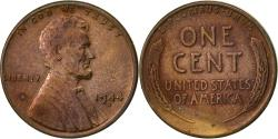 Us Coins - United States, Lincoln Cent, Cent, 1944, U.S. Mint, Denver, , Brass