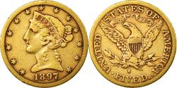 Us Coins - Coin, United States, Coronet Head, $5,1897,San Francisco,Gold,,KM 101