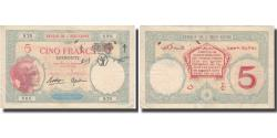 World Coins - Banknote, French Somaliland, 5 Francs, Undated (1943), KM:11, AU(50-53)