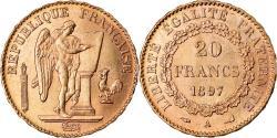 World Coins - Coin, France, Génie, 20 Francs, 1897, Paris, , Gold, KM:825