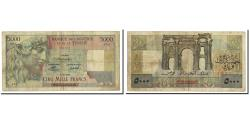 World Coins - Banknote, Tunisia, 5000 Francs, 1946, KM:27, VF(30-35)
