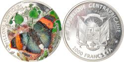 World Coins - Coin, Central African Republic, Exotic Butterflies, 1000 Francs CFA, 2014