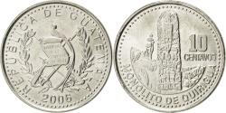 World Coins - GUATEMALA, 10 Centavos, 2006, KM #277.6, , Copper-Nickel, 21, 3.20