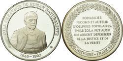 World Coins - France, Medal, Littérature, Emile Zola, History, , Silver