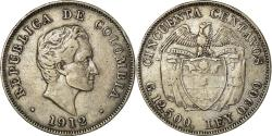 World Coins - Coin, Colombia, 50 Centavos, 1912, , Silver, KM:193.1