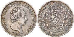 World Coins - Coin, ITALIAN STATES, SARDINIA, Carlo Felice, 5 Lire, 1829, Genoa,