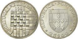 World Coins - Coin, Portugal, 25 Escudos, 1986, AU(55-58), Copper-nickel, KM:635