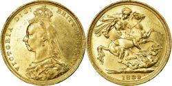 World Coins - Coin, Australia, Victoria, Sovereign, 1889, Sydney, , Gold, KM:10