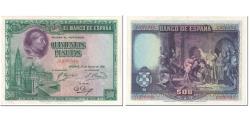 World Coins - Banknote, Spain, 500 Pesetas, 1928, 1928-08-15, KM:77a, AU(55-58)