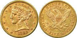 Us Coins - Coin, United States, Coronet Head, $5,1883, Philadelphia, ,Gold, KM 101
