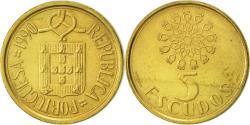 World Coins - Portugal, 5 Escudos, 1990, , Nickel-brass, KM:632