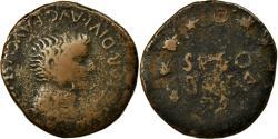 Ancient Coins - Coin, Spain, Tiberius, As, Segobriga, F(12-15), Copper