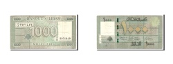 World Coins - Lebanon, 1000 Livres, 2004, Undated, KM:84a, VF(20-25)