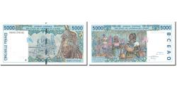 World Coins - Banknote, West African States, 5000 Francs, 1994, Undated, KM:213Bc, UNC(65-70)