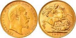 World Coins - Coin, Australia, Edward VII, Sovereign, 1905, Perth, , Gold, KM:15
