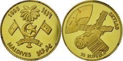 World Coins - Coin, MALDIVE ISLANDS, 50 Rufiyaa, 1995, , Gold, KM:89