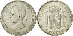 Ancient Coins - Coin, Spain, Alfonso XIII, 5 Pesetas, 1890, Madrid, , Silver, KM:689