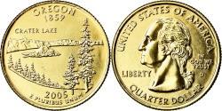 Us Coins - Coin, United States, Oregon, Quarter, 2005, U.S. Mint, Denver, golden