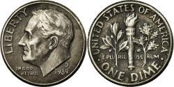 Us Coins - Coin, United States, Roosevelt Dime, Dime, 1989, U.S. Mint, Denver,