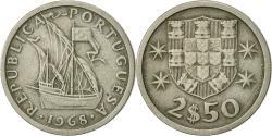 World Coins - Portugal, 2-1/2 Escudos, 1968, , Copper-nickel, KM:590