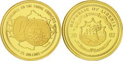 World Coins - Liberia, 25 Dollars, 2002, American Mint, MS(65-70), Gold, KM:669
