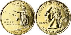 Us Coins - Coin, United States, Hawaii, Quarter, 2008, U.S. Mint, Denver, golden