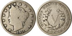 Us Coins - Coin, United States, Liberty Nickel, 5 Cents, 1911, U.S. Mint, Philadelphia