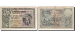 World Coins - Banknote, Spain, 500 Pesetas, 1940-10-21, KM:124a, EF(40-45)