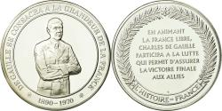 World Coins - France, Medal, Charles De Gaulle, History, , Silver