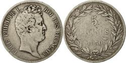 World Coins - Coin, France, Louis-Philippe, 5 Francs, 1830, Nantes, VF(20-25), Silver