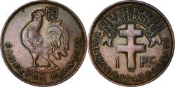 World Coins - Coin, Cameroon, Franc, 1943, Pretoria, , Bronze, KM:5, Lecompte:16