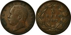 World Coins - Coin, Portugal, Luiz I, 10 Reis, 1882, , Bronze, KM:526