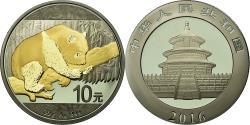 World Coins - Coin, China, Panda, 10 Yüan, 2016, golden, , Silver