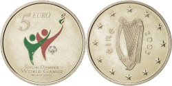 World Coins - IRELAND REPUBLIC, 5 Euro, 2003, Sandyford, KM:40, , Copper-nickel